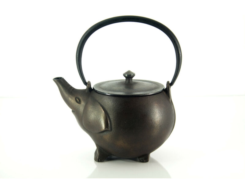 Antique cast iron teapot ebay - Elephant cast iron teapot ...