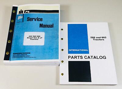 International Farmall 560 Diesel Gas Lp Tractor Parts Service Repair Part Manual