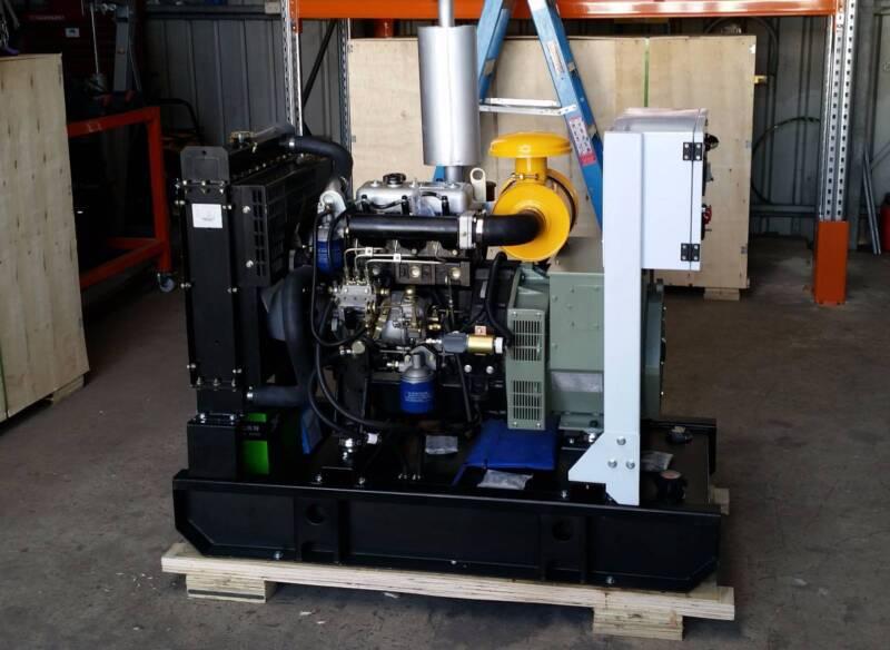 Diesel Generator 8kVA 240V in open frame