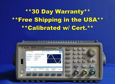 Agilent Hp Kt 33522a Function Arbitrary Waveform Generator 30 Mhz W Opt 400