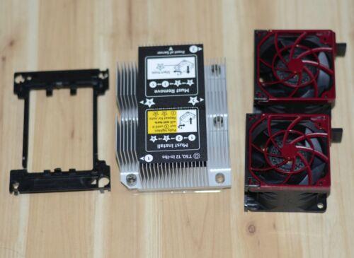New HP DL380 DL380p G10 CPU Kit, Heatsink 875070-001 & 2 Fans 870931-001,