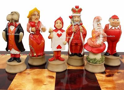 Alice in Wonderland Fantasy Chess Men Set -  NO Board