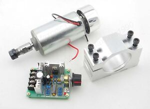 CNC-Spindle-300W-Motor-PWM-DC-speed-controller-Mount-bracket-set-Milling