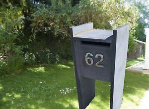 Blue stone letterbox - MAKE AN OFFEE