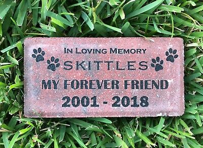Personalized Pet Memorial Headstone Custom Engraved Brick for Dog Cat great Gift