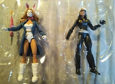 "Black Cat White Rabbit Lot Marvel Legends figure OOB NO BAF Spider-Man 6"" Hasbro"