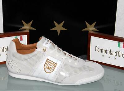 PANTOFOLA D´ORO Leder-Sneaker - IMOLA Scudo Patent Low Bright White - Neu&OVP! Patent Leder