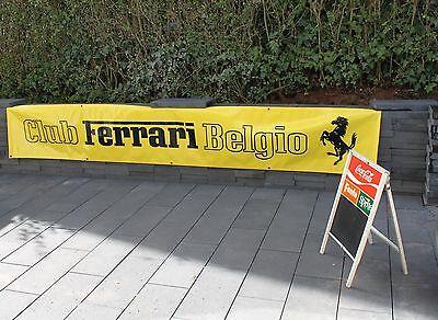 FERRARI Raicing - 4m - Werbe-Banner Bergpreis -Horse Power Raicing Club - Belgio