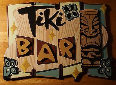 Vintage Retro Style 3 Dimensional Wood TIKI IDOL Beach Bar Home Decor Sign NEW
