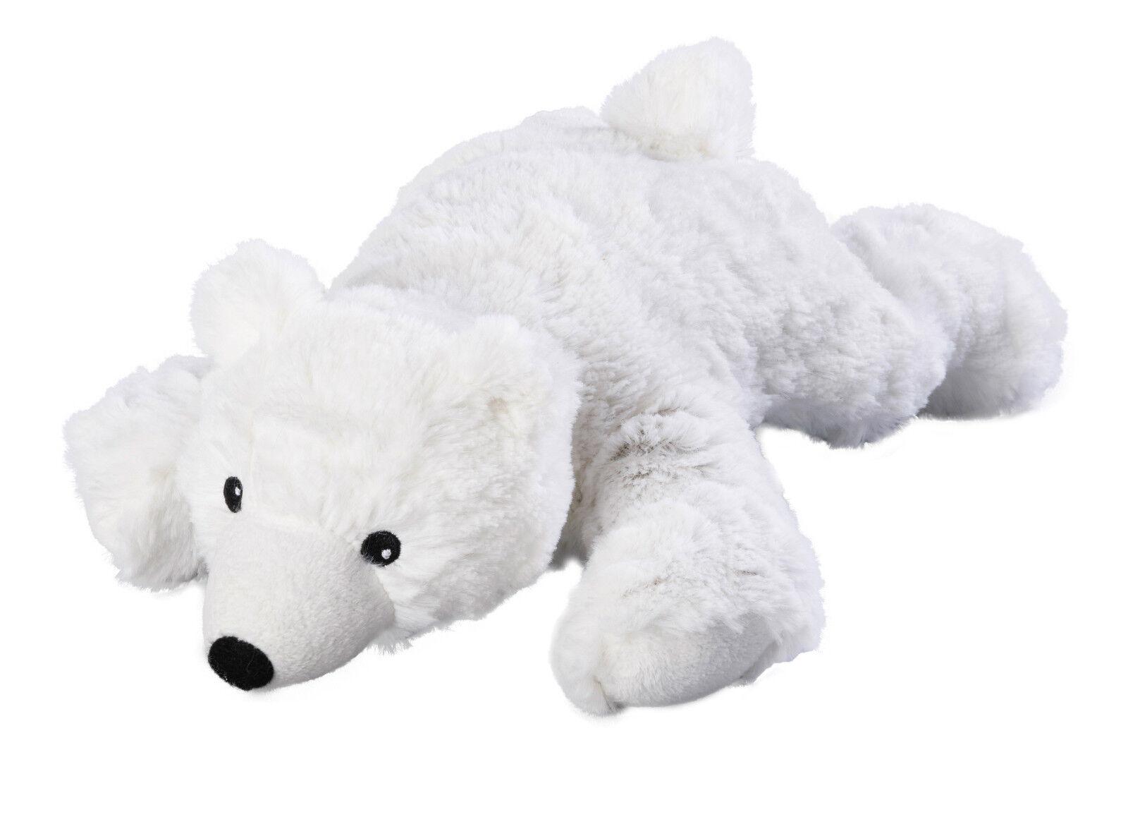 Original Warmies Greenlife Wärmestofftier Wärmekissen Körnerkissen Wärmetier NEU Eisbär herausnehmbar