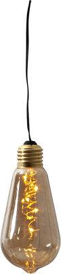 Warm Amber Glas (LED Deko Licht Glow 5 LEDs warmweiss Amber Glas- hängende Glühbirne mit Batterie)