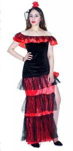 Adult red black flamenco dancer costume Spanish Mexican holla Melbourne CBD Melbourne City Preview