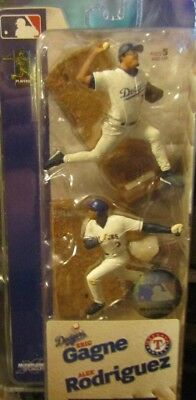 BRAND NEW! McFarlane 2004 Eric Gagne (Dodgers) & Alex Rodriguez (Rangers)