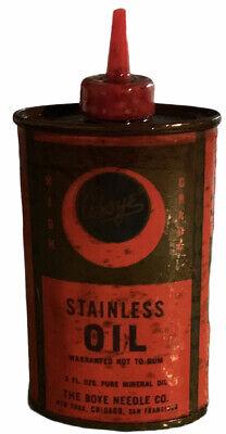 VINTAGE ADVERTISING BOYE HANDY OILER OIL AUTO TIN CAN SAN FRANCISCO. Needle Co.