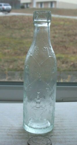 VICTORIAN PICTURIAL SAMPLE EMBOSSED, SCHWEPPES (PICTURE OF FOUNTAIN)