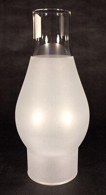 """2 1/2"""" x 7 1/2""""  FROSTED OIL ELECTRIC KEROSENE GLASS LAMP CHIMNEY for #1 burner"""