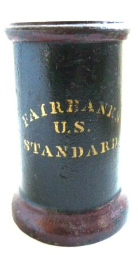 Antique American Painted Cast Iron Gill Measure, signed Fairbanks