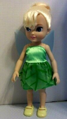 DISNEY TINKER BELL DOLL WITH TRANSPARENT BLUE WINGS, 17