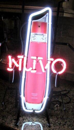 Neon Nuvo Pink Liquor Sign Advertising Electric Restaurant Barware NOS #A20