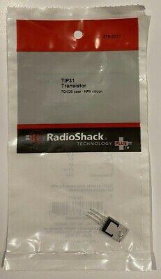 Tip31 Transistor To-220 Case Npn Silicon 276-2017 Radioshack Nip