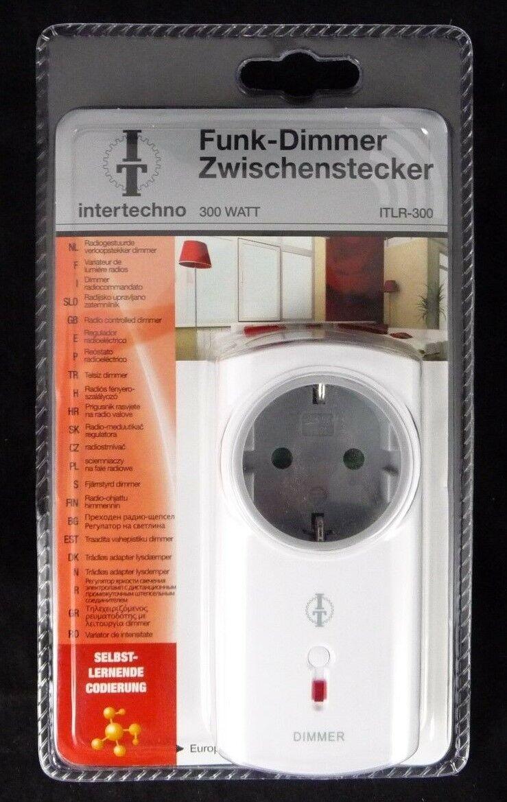 intertechno ITLR-300 Funk Dimmer Zwischenstecker 300 Watt Steckdose