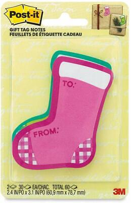 Post-it Die-cut Notes 3 X 3 Stockings 30 Sheets Per Pad Pack Of 2 Pads