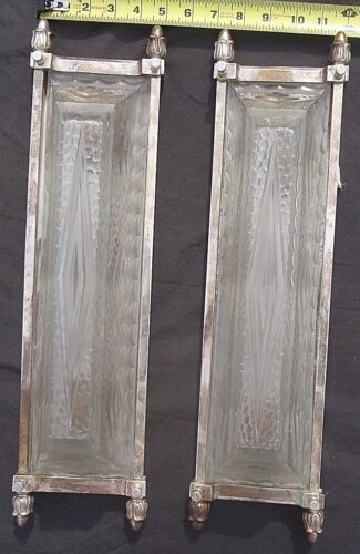 French Cubist Art Deco Matching Sconces - Physically Genuine Antique