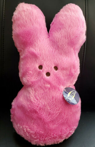 "Just Born PEEPS Large Pink Bunny Rabbit Plush - 16"" W/Tag"