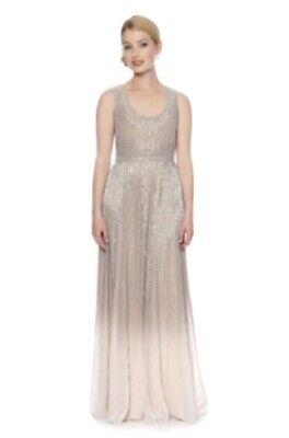 Jenny Packham Ombre Dress Maxi Gown Beaded UK Size 10