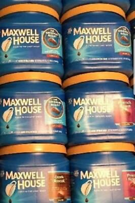 6 EMPTY Maxwell House Coffee CONTAINERS And LIDS Craft STORAGE Organize GARAGE