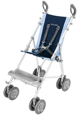 Maclaren Major Elite Special Needs Transport Push Chair Stroller Soft Blue/Navy
