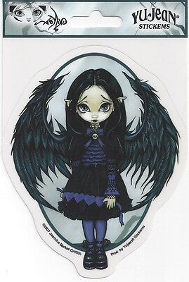 PURPLE PAPER HEARTS Fairy Sticker Car Decal Jasmine Becket-Griffith Strangeling