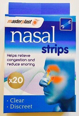 20 X Drug-Free Nasal Strips  Stop Snoring Great Anti Snore Sleeping Aid