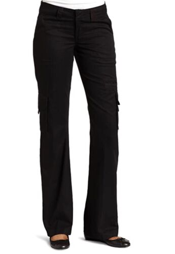 Dickies Women's Relaxed Cargo Pant,Black,6