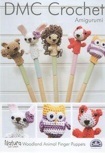 DMC 15213L/2 Woodland Animal Finger Puppets Amigurumi Crochet Pattern