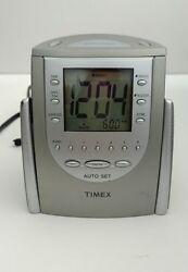 Timex T311T Auto-Set Dual-Alarm Clock Radio (Titanium) w/ AM/FM / Snooze