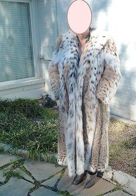 Vtg Szor-Diener Lynx Fur Coat Full Length SIZE Medium from Koslow's