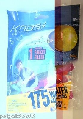 Kads Biodegradable Latex Water Balloons, 175 Ct Assorted Colors  ()