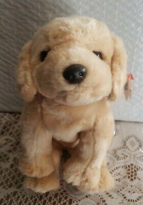 """TY Beanie Baby Buddy FETCH 12"""" Golden Retriever Dog/Puppy NEW"""