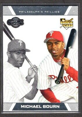 MICHAEL BOURN  PHILLIES  RC  2007 TOPPS CO-SIGNERS #98