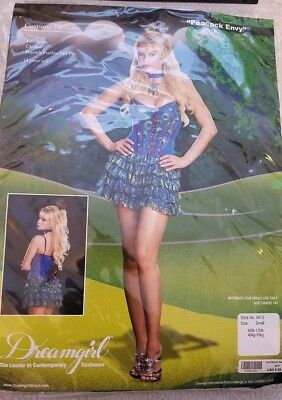 NEW Adult Dreamgirl Peacock Envy Halloween Costume Size S