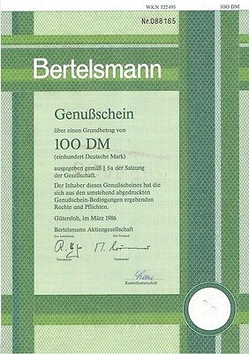 Bertelsmann  100DM Gütersloh 1986