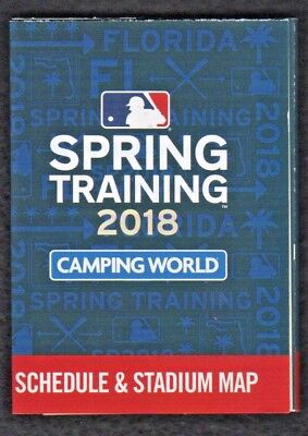 2018 Florida Grapefruit League Spring Training Pocket Schedule Feat 15 Teams