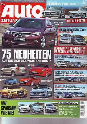Gebraucht, AUTO ZEITUNG 23/2009 Mercedes SLS AMG/300 SL/R 350 BlueTEC/E 250 CDI T/ C /09 gebraucht kaufen  Peine