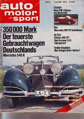 ams 14/80 Mercedes W123 300 TD/VW Golf GTI/Porsche 924 Carrera GT/Datsun 280 ZXT, gebraucht gebraucht kaufen  Peine