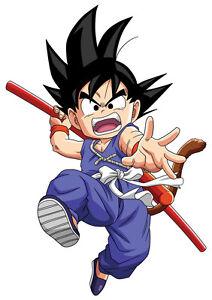 Sticker poster manga dragon ball z sangoku enfant son goku kid baton magic a4 ebay - Petit sangoku ...