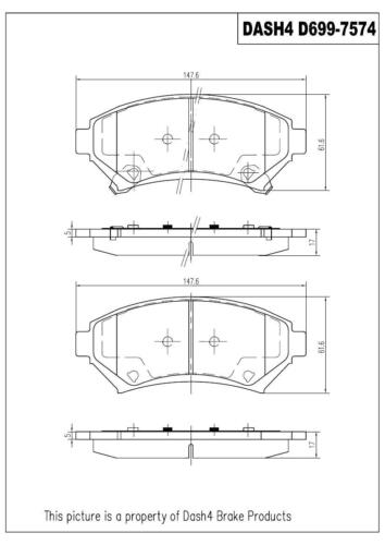 Dash4 MD699 Semi-Metallic Brake Pad