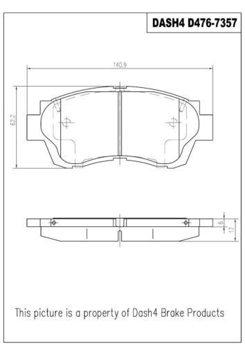 Toyota Lexus FRONT Dash 4 Brake CD476 Disc Brake  Ceramic Pads