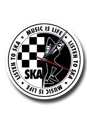 SKA MUSIC ROUND METAL CLOCK