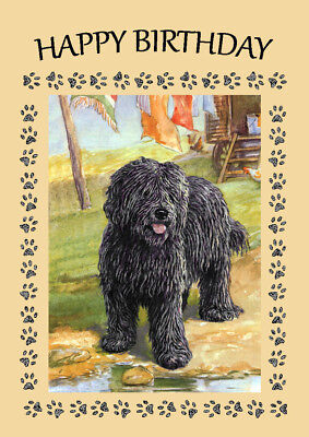 HUNGARIAN PULI GREAT BIRTHDAY GREETINGS NOTE CARD